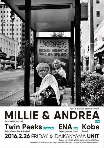 Millie&Andrea tokyo unit 2016 Flyer