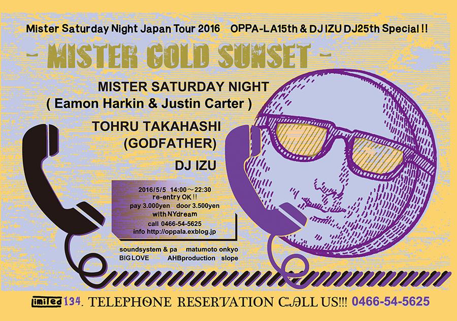 mister saturday night oppa-la flyer