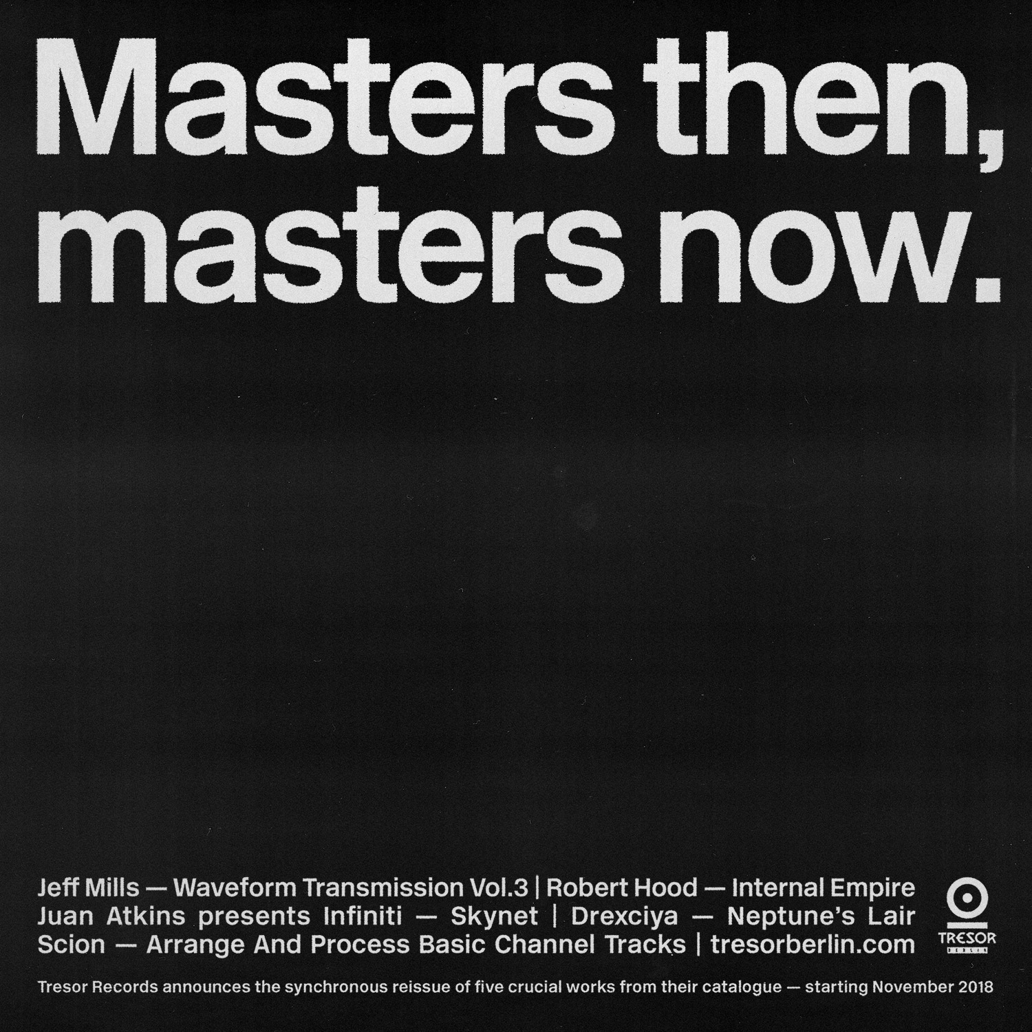 Tresor Masters then, masters now
