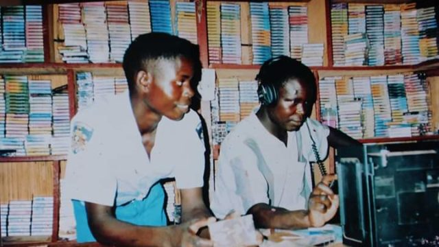 Akanyango Enterprises Cassette shop in Gulu that first stocked Electro Acholi releases - 2003