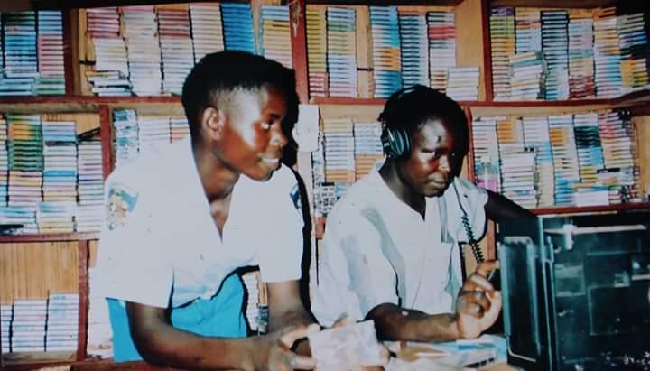 Akanyango Enterprises Cassette shop in Gulu that first stocked Electro Acholi releases - 2003
