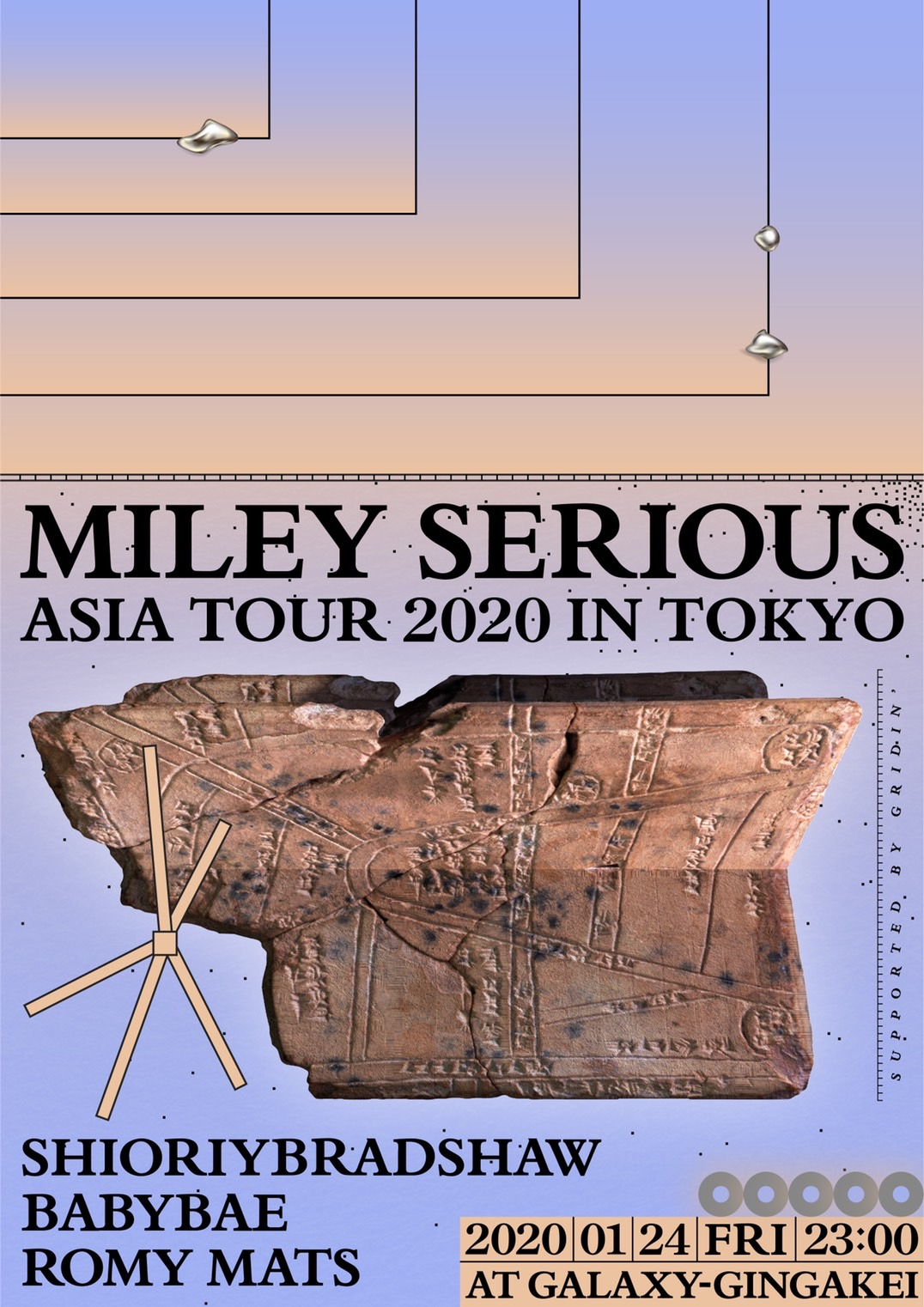 Miley Serious Asia tour 2020 in Tokyo supported by GRIDIN'