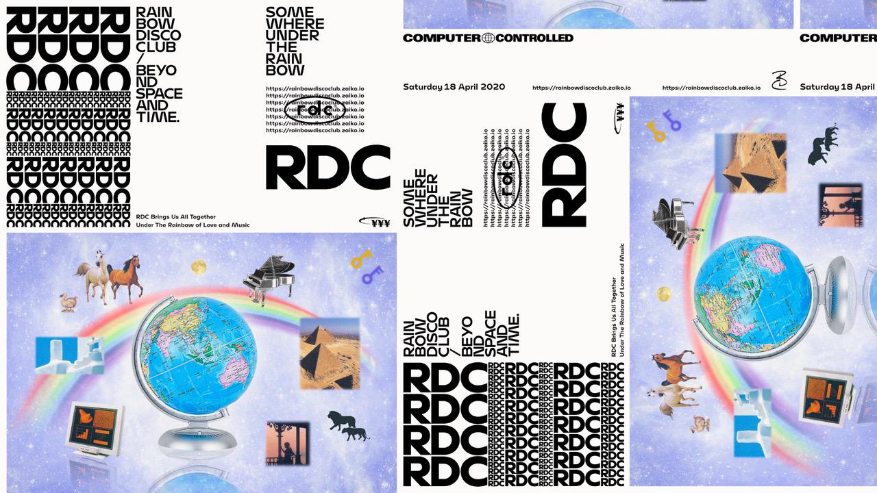 "RAINBOW DISCO CLUB ""somewhere under the rainbow!"""