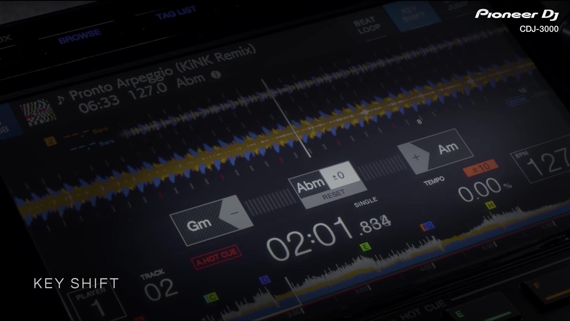 CDJ-3000 KEY SHIFT GUI
